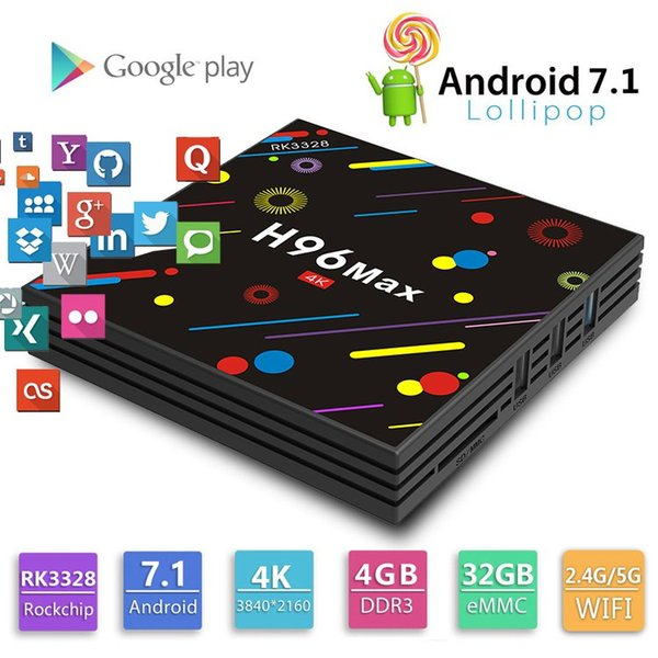 android tv box for rockchip RK3328 Quad Core 4gb 32gb TV Box with Android 7.1 4K media player