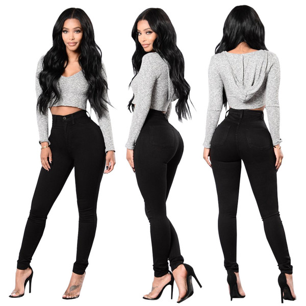 best selling New Black Jeans Stretch Tight Jeans Women's Denim Pant For Girls Female High Waist Trousers boyfriend for women