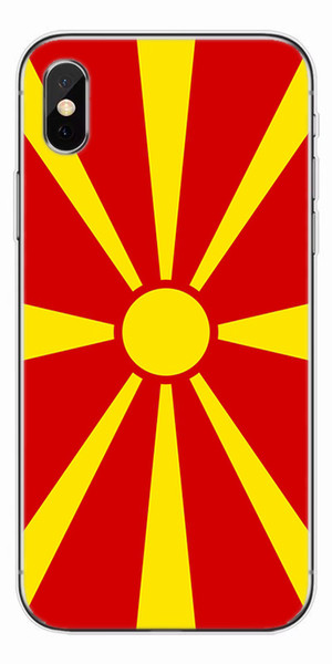 [TongTrade] Soft Silicone TPU Luxury Coloured Painting Case For iPhone X 8 7 6s 5s Plus Macedonia Flag Galaxy S9 S8 S7 S6 Edge Plus Case