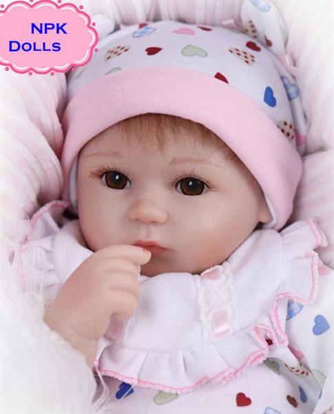 New Hot Vente NPK Réel Silicium Bébé Poupées Sur 18 pouces Belle Poupée Renaître Pour Bébé Cadeau Bonecal Bebe Reborn Brinquedos