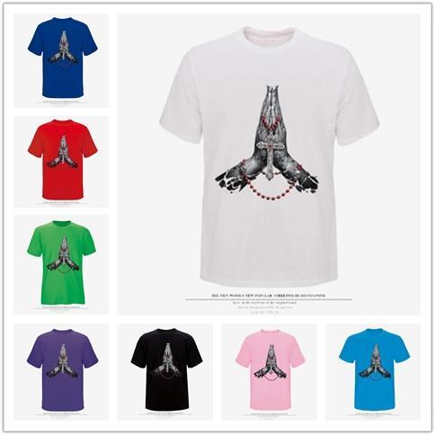 Творческий мода простой каракули рубашка с короткими рукавами мужская 3D ладони печати шею хип-хоп Хай-стрит с короткими рукавами футболки