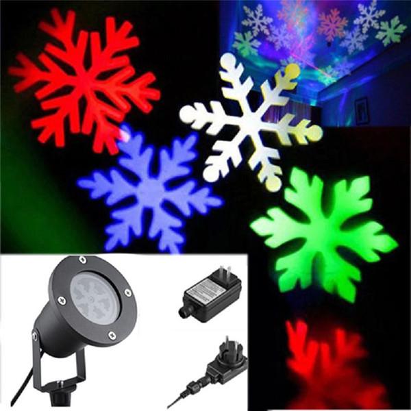 Outdoor LED Impermeabile Fiocco di neve Lampada da giardino a casa Decorazione LED Prato Luce per Natale EU Plug Forniture domestiche Spedizione gratuita