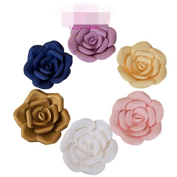 6 Couleurs 3 pcs / set Fleurs De Papier Artificielle Rose Fleurs De Mariage Décoration Artisanat DIY Bébé Douche Fête D'anniversaire Décor Fournitures CCA9773 6set
