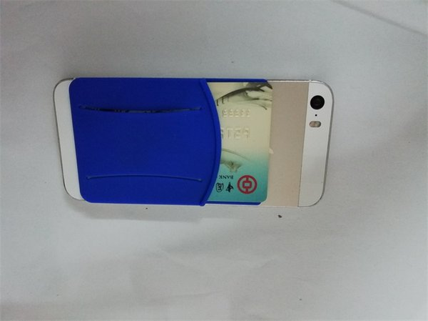 New Cheap Silicone Touch Cell Phone sticker card holder 3m 300lse sticker pouch 3m Sticker Credit Card Holder Phone for iphone