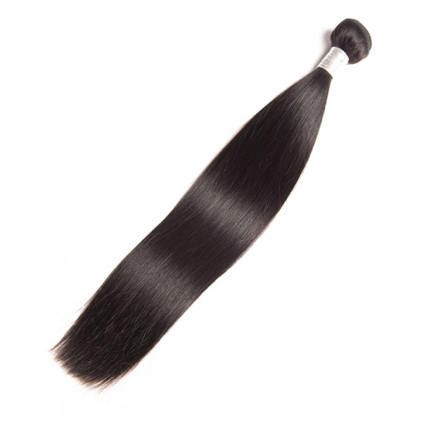 Brazilian Virgin Hair Straight Human Hair Extensions 95-100g/piece Natural Color One Bundle Straight Hair Wefts 8-30inch