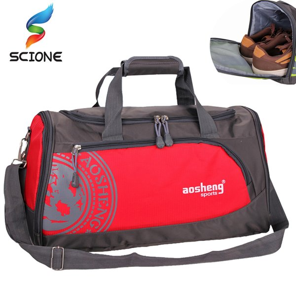 2018 Hot Nylon Outdoor Sports Gym Bag Professional Men Women Fitness Travel Handbag Hot Training Female Yoga Duffel Shoulder Bag Y1890402