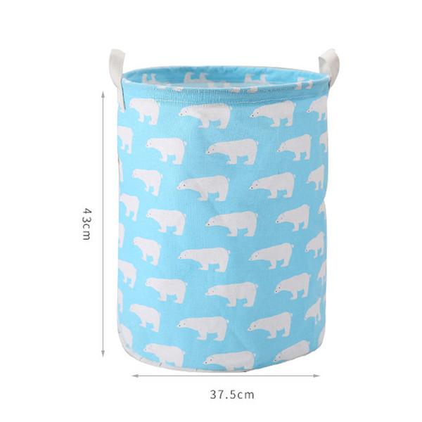 fish Cestas de Puntos de lavander/ía Cesto Bolsa almacenaje de la Ropa a casa Ropa de ni/ños de Juguete del Barril de Almacenamiento de contenedores de lavander/ía