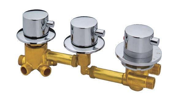 Shower room mixing valve, customize shower room 3/4/5 way water outlet thermostated copper head, thermostatic faucet
