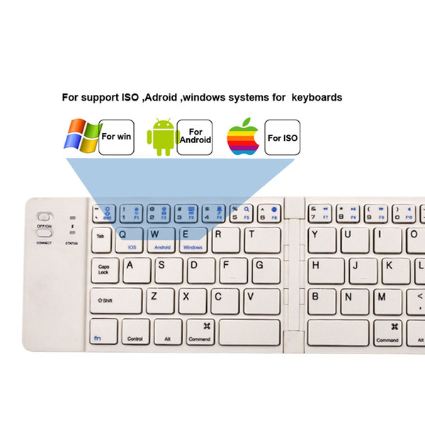Wireless Ultra-thin Portable Folding Keyboard Mini Bluetooth Keyboard, Holster Design Universal Keyboard Device for iPad, Android tablet