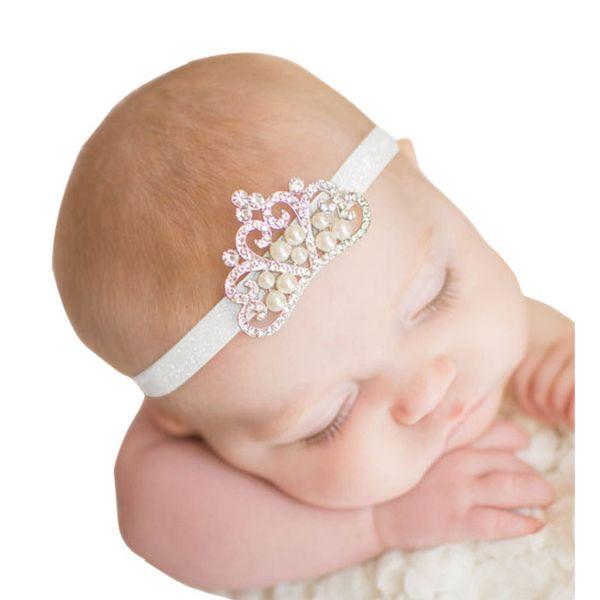 New Baby Girls Newborn Pretty Headband Flower Crystal Crown Accessories Headwear
