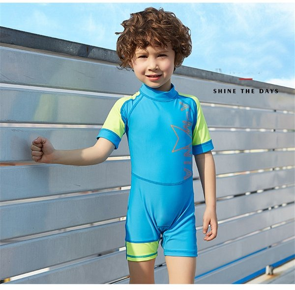 2018 Children Kid Diving Wetsuit Youth Swimwear NEW Child Short Sleeve Swimming Snorkeling Clothing Boys and Girls Kids 3 colors