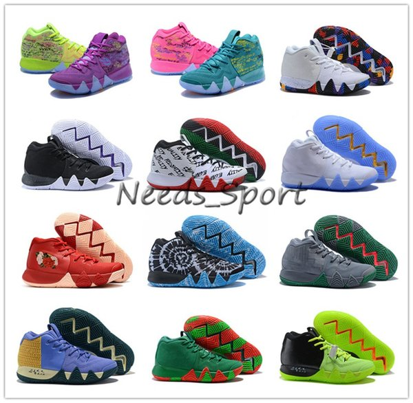 2018 March What the 4 Multicolor Mens Basketball Shoes for High quality 4s Purple Fluorescent Green Classic Fashion Sports Sneakers US 7-12