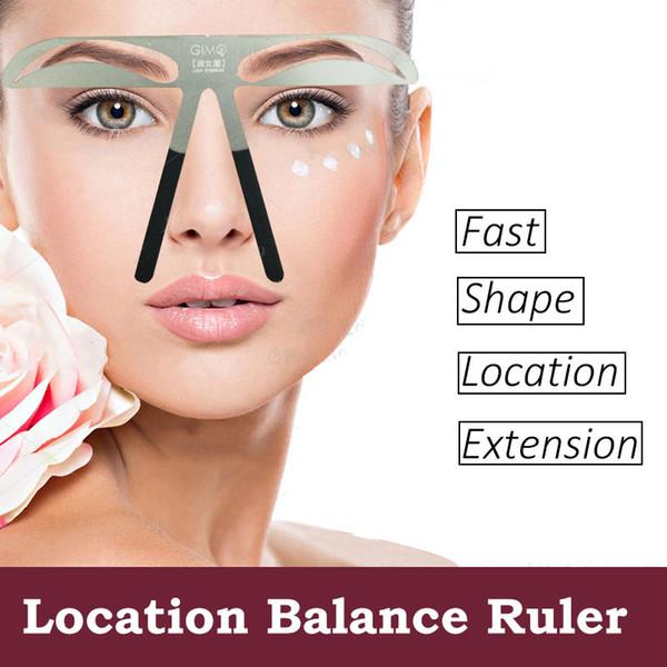 Microblading Sopracciglio Tattoo Stencil Ruler Shaper Template Definition Trucco permanente 4 tipi di sopracciglia super popolare molto diffuse