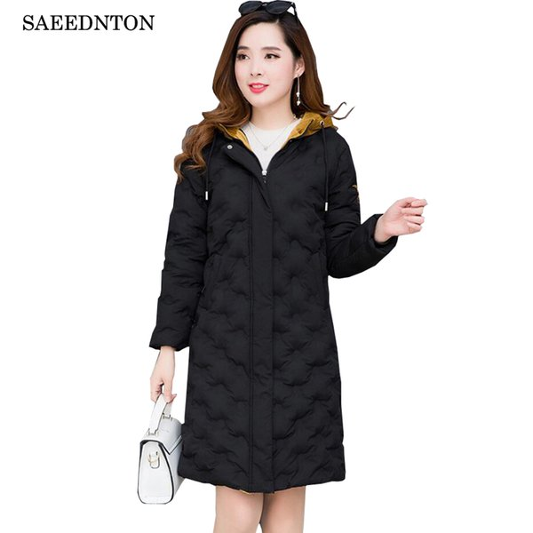 Long Jackets For Winter For Women 2018 New Brand Woman's Fashion Middle-aged Mother Down Cotton Padded Parkas Female Casual Coat