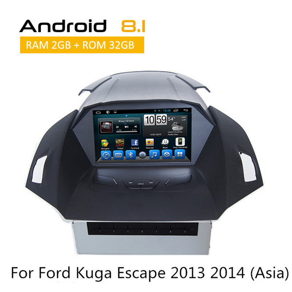 Ford Kuga 2013 2014 2 Din Car Dvd Gps Player With 8 inch Digital Screen Built-in Wifi and 3G, fast speed surfing