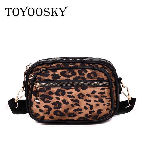 TOYOOSKY Fashion Designer Women Bag Brand Small Women Leopard Print Handbags Flap Leopard Shoulder Bags clutch Sac Messenger Bag