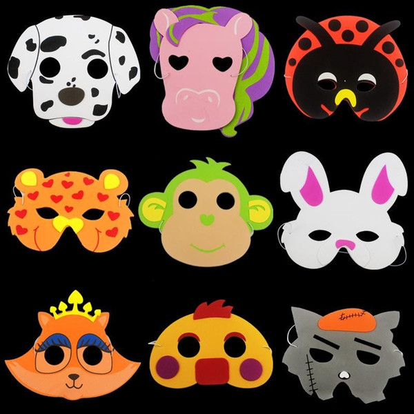 Niños Eva Animal Cartoon Mask Elefante Tiger Party Supplies Espuma Máscaras faciales Día de los niños Juguete de regalo Perfomance Prop 0 72cl Z