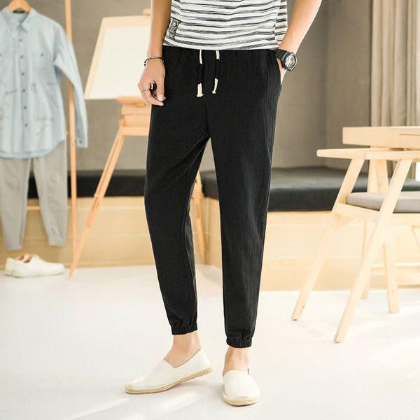 Asian Size Neue Mode Für Männer Casual Hosen männer Leinen