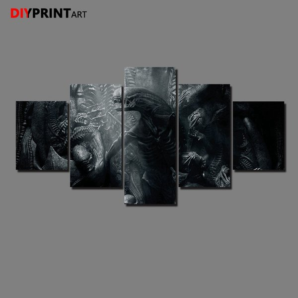 Movie Alien Paradise Lost 5 Pieces Wall Art Decor Wall Pictures for Living Room A1147