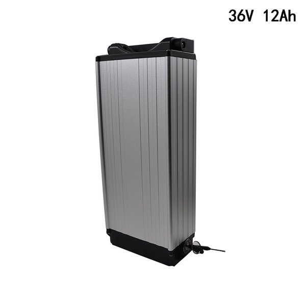 36V E-bike Lithium Battery 12Ah pack for 18650 cell Electric Bicycle battery for 450W 500W 850W motor +2A Charger Free Shipping