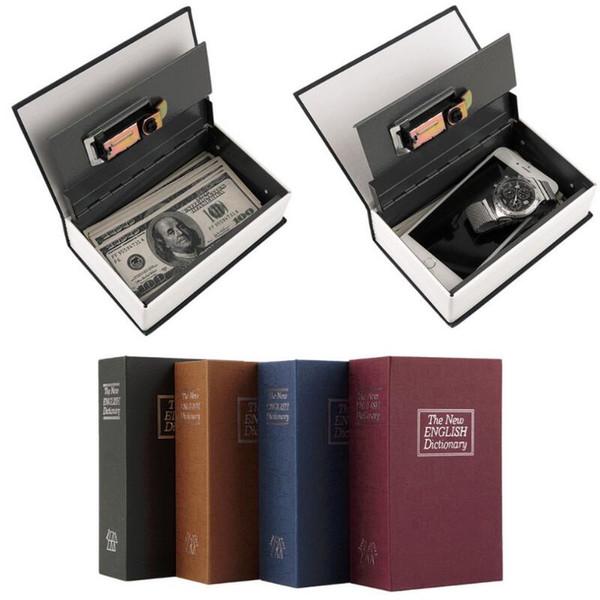 Dictionary Safe Box Secret Book Money Hidden Security Safe Cace Lock Cash Money Coin Storage Jewellery Password Locker For Kid Gift