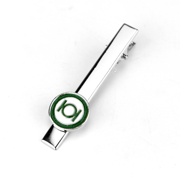 2017 New High Quality DC Comics Green Lantern Cufflinks Tie Clips Superhero Marvel Enamel Charm Jewelry For Men Shirt Jewelry