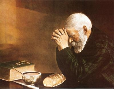 Multi Custom Sizes /Frame Grace, Daily Bread Old Man Praying,Handpainted /HD Print Figure Portrait Art Oil Painting On Canvas P155