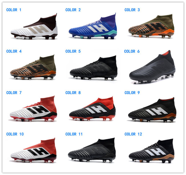 Acheter Adidas Hommes Predator 18.1 FG Soccer Crampons Moins Cher Ronaldo Hommes Chaussures De Football Predator 18 Bottes De Football Nouvelles