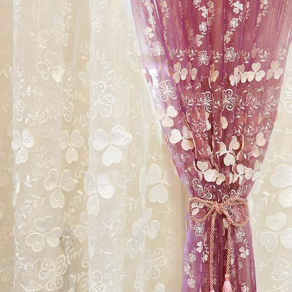 Корейский Новый стиль белый тиснением экран окна вышитые марлевые занавес ткани фабрики прямая продажа тюль