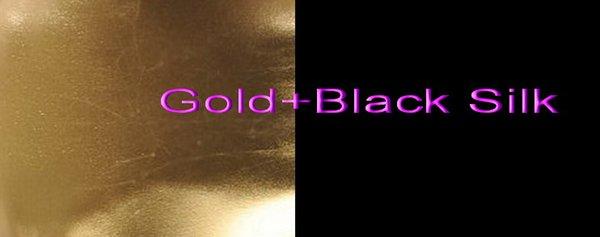 Gold+Black Silk