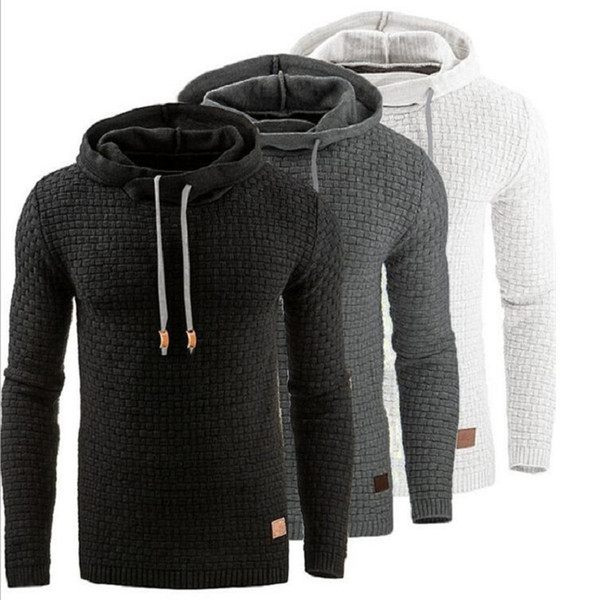 Großhandel Hoodie Männer Hoody Male Long Sleeve Einfarbig Mit Kapuze Herren Sweatshirt Mens Hoodies Trainingsanzug Sweat Coat Lässige Moleton Von