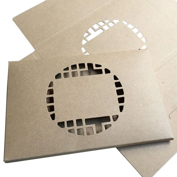 16*10.5cm Foldable Kraft Paper Postcard Box With Window For Photo Display Greeting Card Packaging ZA6608