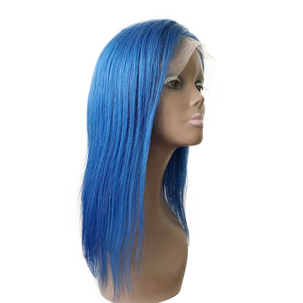 130% Density Pink Yellow Lace Front Wigs Straigjht Brazilian Human Hair Free Middle Part No Tangle No Shedding G-easy
