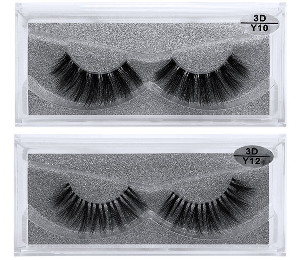 1c5793573ef JIEFUXIN Invisible Transparent Band 3D Mink Fur Fake Eyelashes Women's  Makeup False Lashes Hand-made