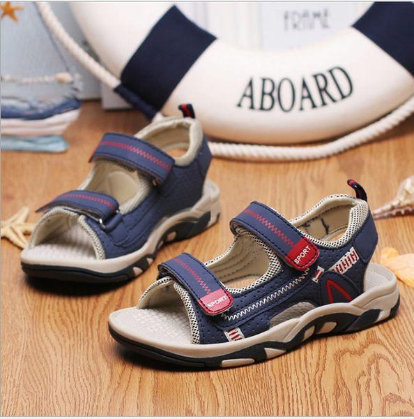 2018 Sommer neue Kinder Sandalen Jungen Jungen Strand Schuhe rutschfeste Baby große Kinder offene Zehe Sport Sandalen