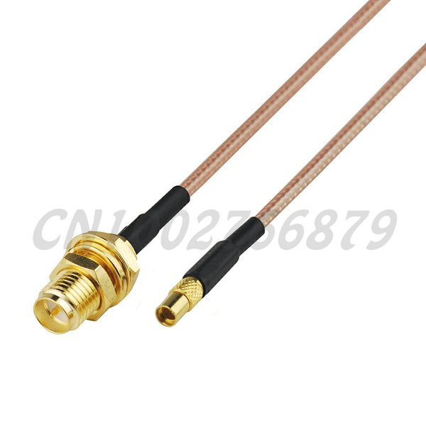 0.5ft 15cm RF MMCX Jack Straight to RP-SMA Jack female bulkhead RG316 Pigtail Cable Antenna Feeder cable assembly