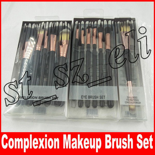 Complexion Makeup Brushes 6pcs 5pcs Professional Eyeshadow Brush Set Foundation Powder Beauty Tools Cosmetic Brush Kits with PVC Box
