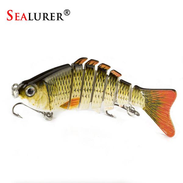 SEALURER 1Pcs/lot 10cm 12.5g Fishing Wobblers 7 Segments Swimbait Crankbait Fishing Lure Bait with Artificial Hooks Y18100806