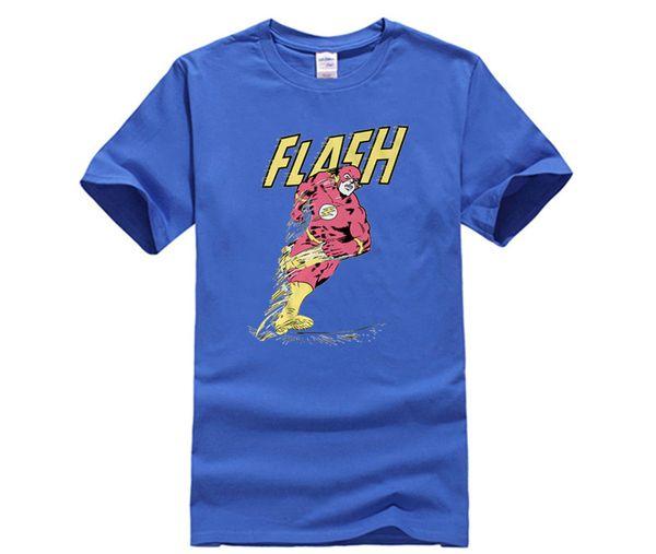 Custom t-shirts New Superhero the Flash T shirt Men Women Cartoon Movie Barry Allen Breathable O-neck Short Sleeve
