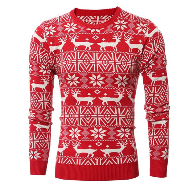 Mens Designer Sweaters Pullover Coat Warm Slim Knitted Christmas Deer Thick Autumn Winter Long Sleeve Geometric Tops