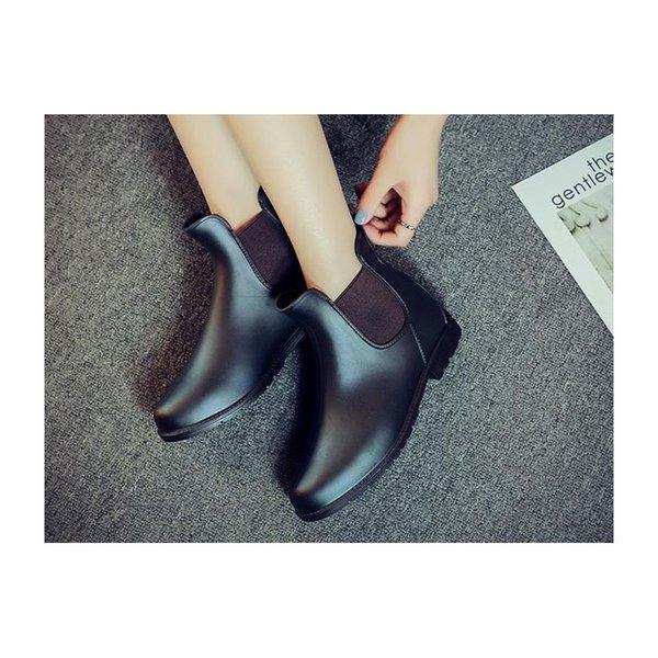 Masorini Ayak Bileği Yağmur Çizmeleri Büyük Boy 43 Kadın Su Geçirmez Moda Marka Kauçuk Kadınlar Su Ayakkabı Kadın Rainboots Sıcak Satış W-331