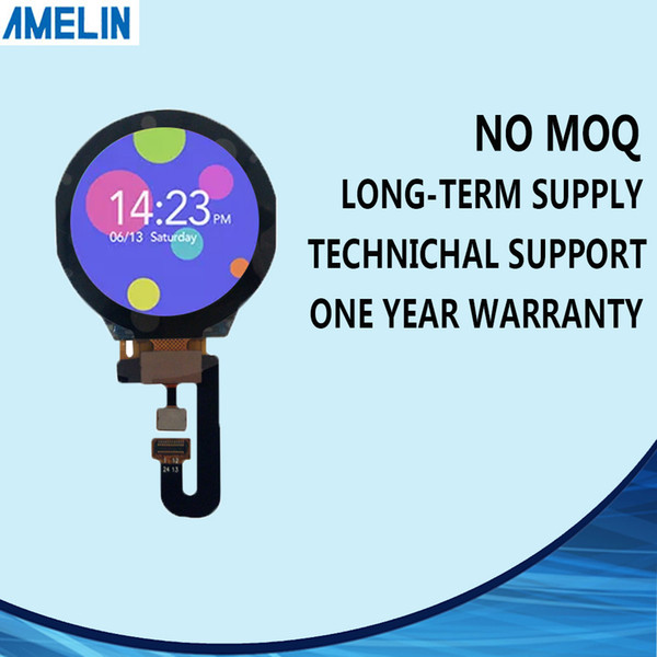 AML130A2402A 1.3 inch 240*240 round tft lcd Module display with CTP touch screen and IPS viewing angle for smart watch