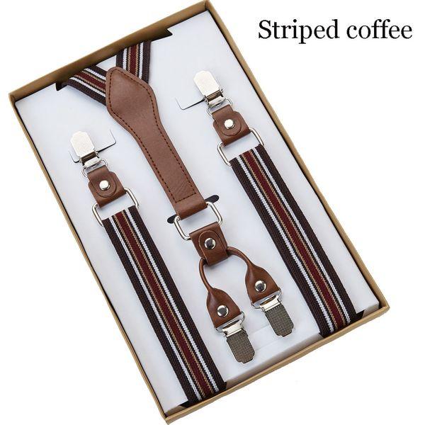 2 pcs 4 Clip Men's Suspenders 2.5CM Width Men Braces Supports tirantes For Women Elastic Adjustable Pants Straps Clothing