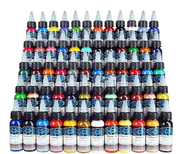 NUOVI ARRIVI Tattoo Ink 60 colori di fusione Set 1 oz 30ml / Bottle Tattoo Kit pigmento Spedizione gratuita