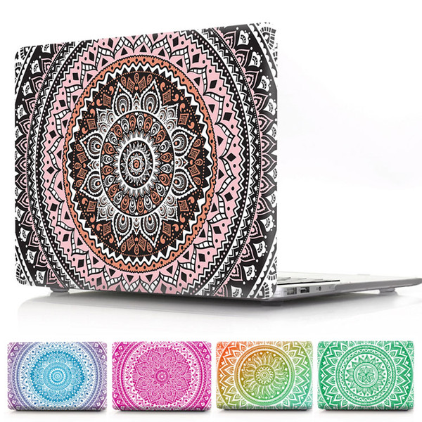 Mandala Flower PC Case For Macbook Air Pro Retina 11.6 12 13.3 15.4inch Front and Back Cover For iMac