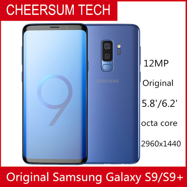 2018 Original Samsung Galaxy S9 s9+ G960 G965F 6.2'' 6GB RAM 64GB ROM Snapdragon 845 Android 8.0 Fingerprint LTE Mobile Phone