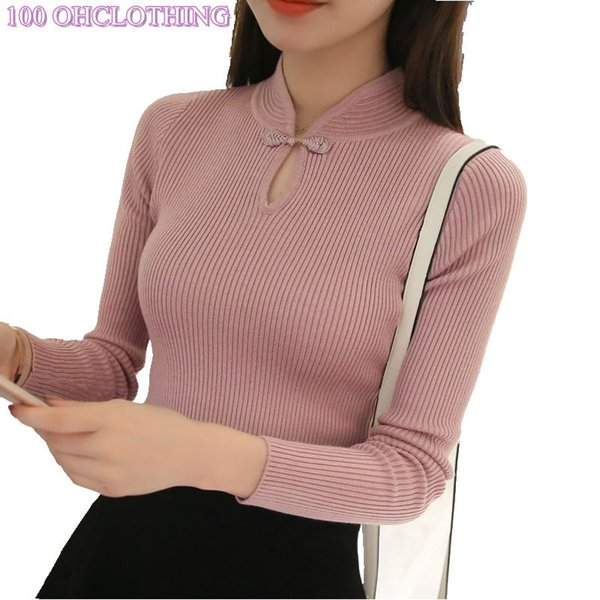 Hot 2018 Winter New Fashion Thickened half turtleneck sweater short female thread tight all-match solid new shirt