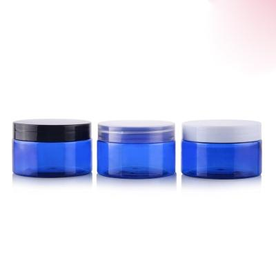 100g X 50 empty blue Plastic Cream mask PET bottles jar containers for cosmetic packaging skin care cream white/clear/black lid