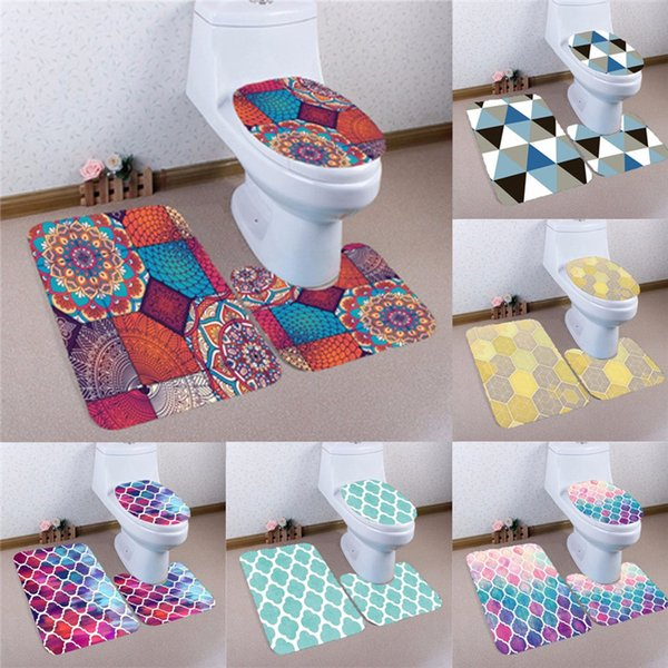 Peachy 2019 Hot Sale Bathroom Products Cartoon Bathroom Set Toilet Seat Cover Set Pedestal Rug Lid Toilet Cover Bath Mat From Shefuluoerly 11 34 Inzonedesignstudio Interior Chair Design Inzonedesignstudiocom