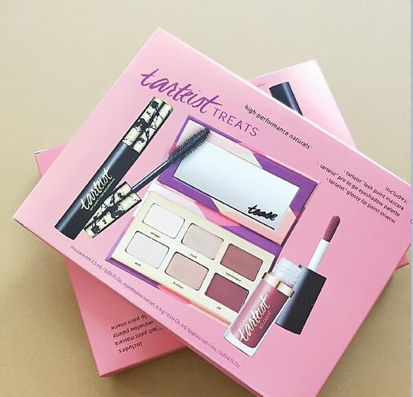 Tarteist 1 pcs 6 cores sombra + 1 pcs rímel + 1 pcs lip gloss Moda combinação terno frete grátis